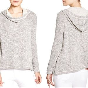 Eileen Fisher Hooded Organic Cotton Pullover